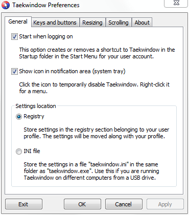 Taekwindow screenshot