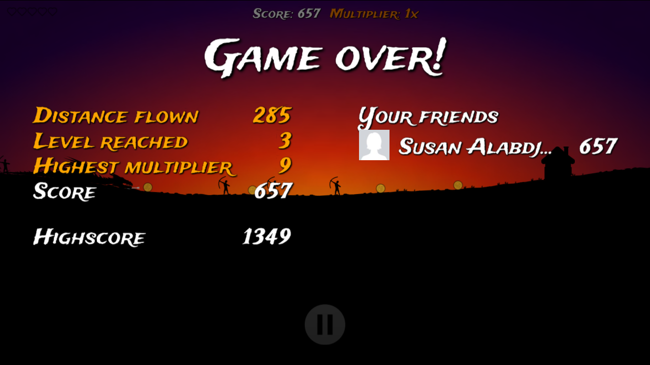 Facebook highscores in Dragon Attack