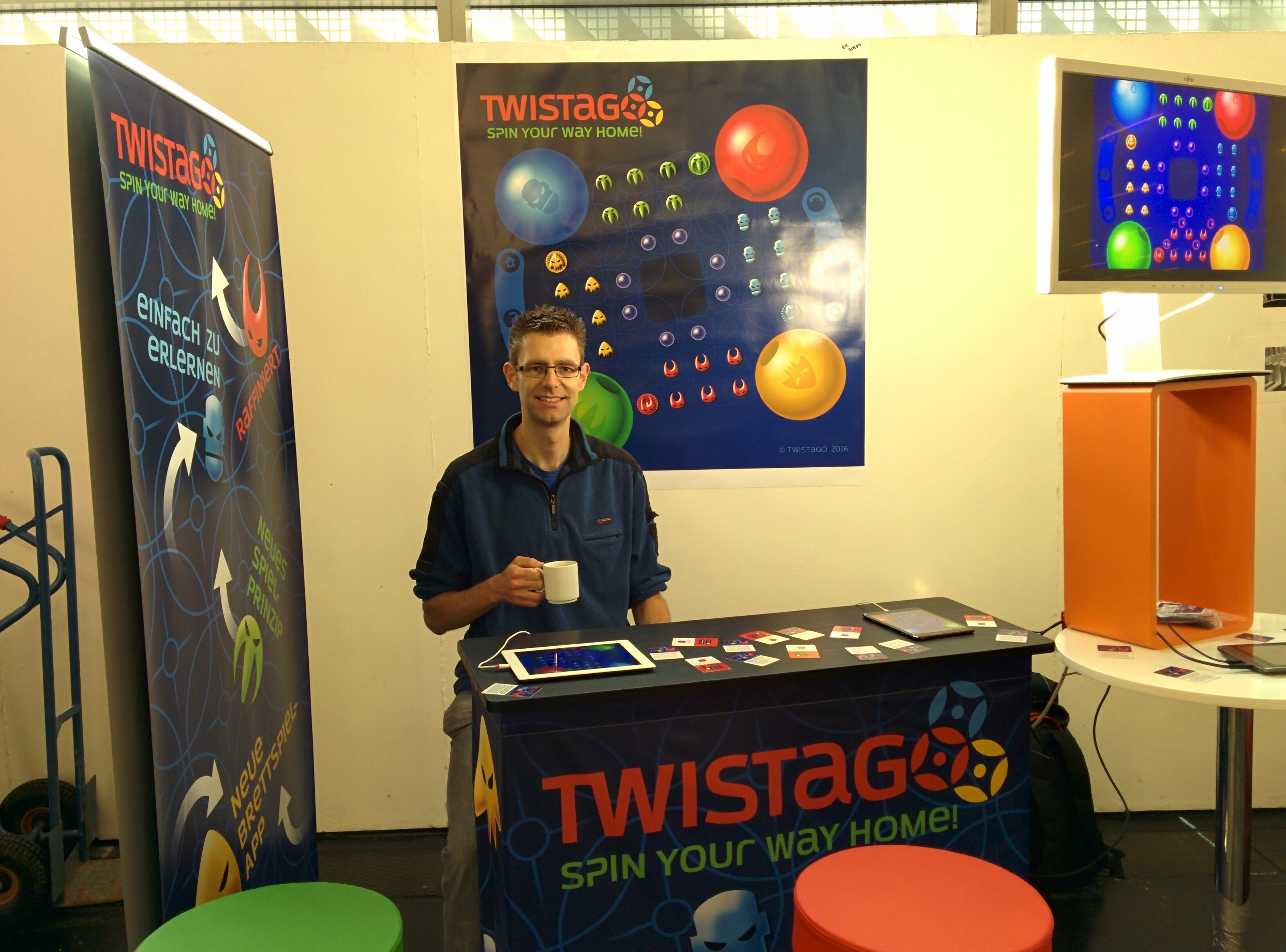 The Twistago stand at Spielwies'n
